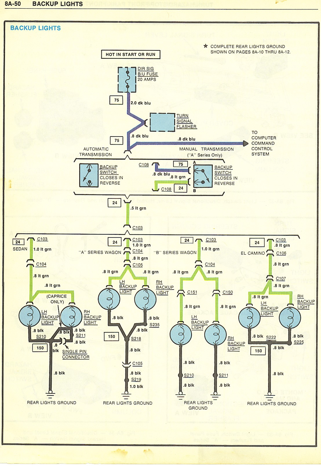 BackupLights wiring diagrams Ford Alternator Wiring Diagram at bayanpartner.co