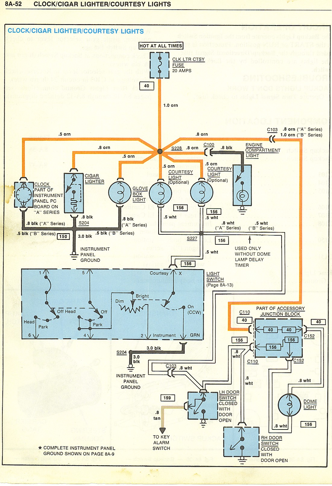1977 Corvette Starter Schematic Wiring Library Chevrolet Diagram 77 Courtesy Light House Power Window