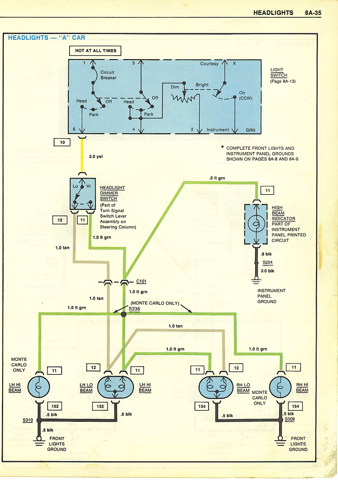 1992 Gm Headlight Switch Wiring Diagram Library Vw Light Diagrams