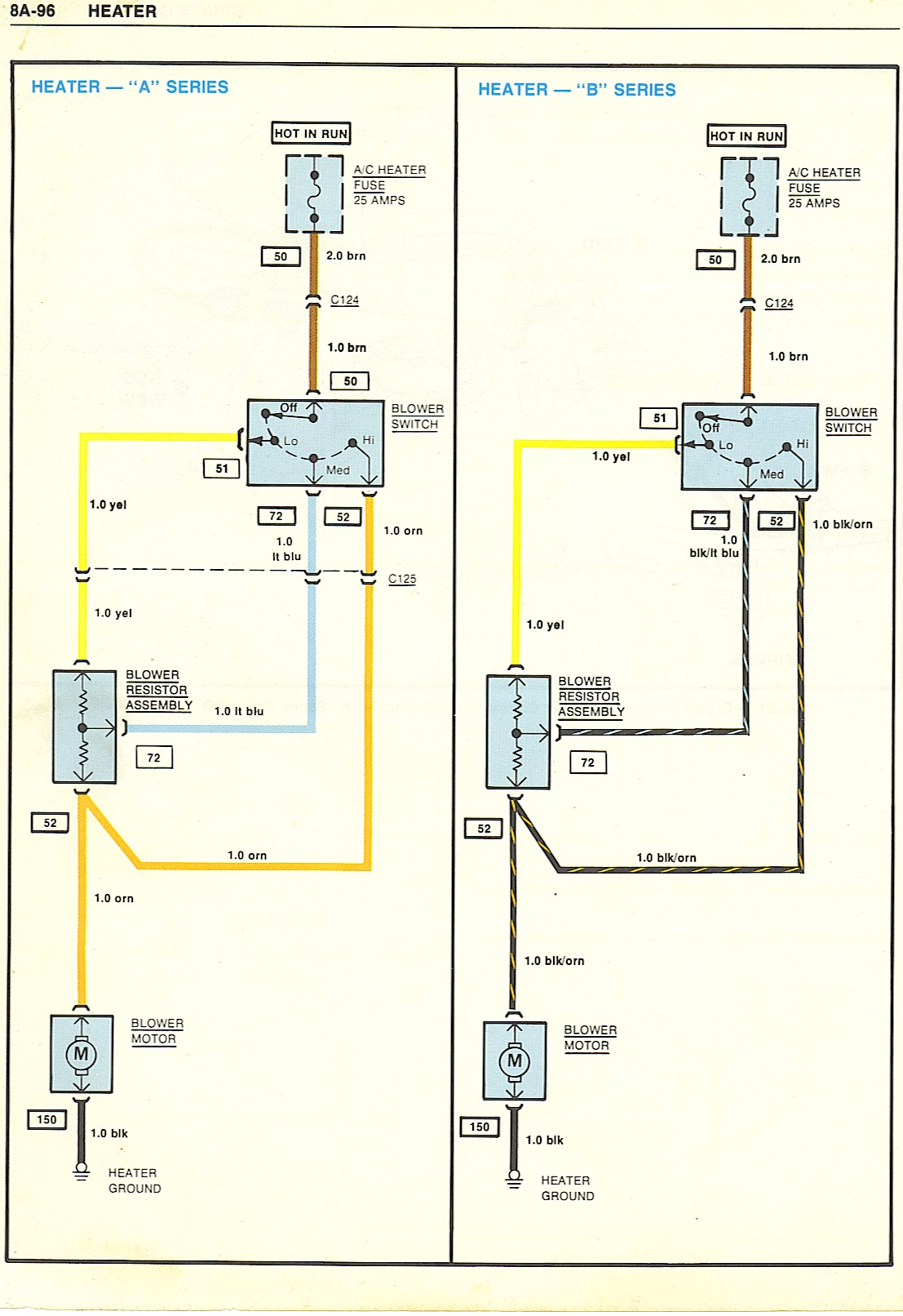 Heater wiring diagrams 1972 Chevelle Engine Wiring Diagram at beritabola.co
