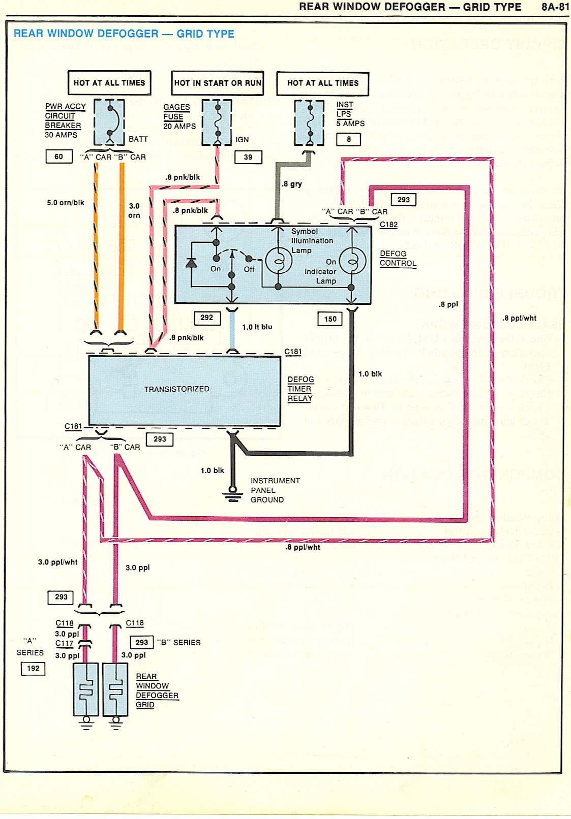 RearWindowDefogger wiring diagrams Ford Alternator Wiring Diagram at bayanpartner.co